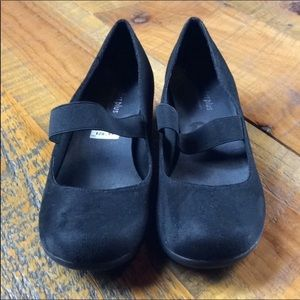 Predictions black faux suede Mary Jane flats 8